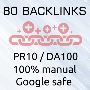 80 high PR backlinks for SEO
